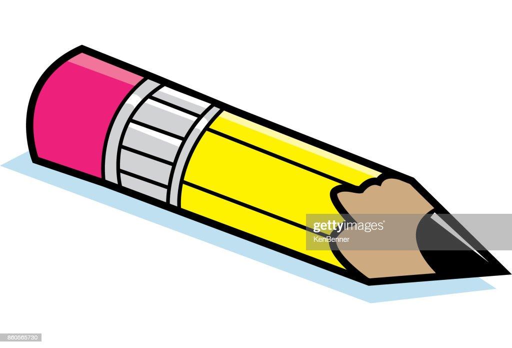 Cartoon pencil.