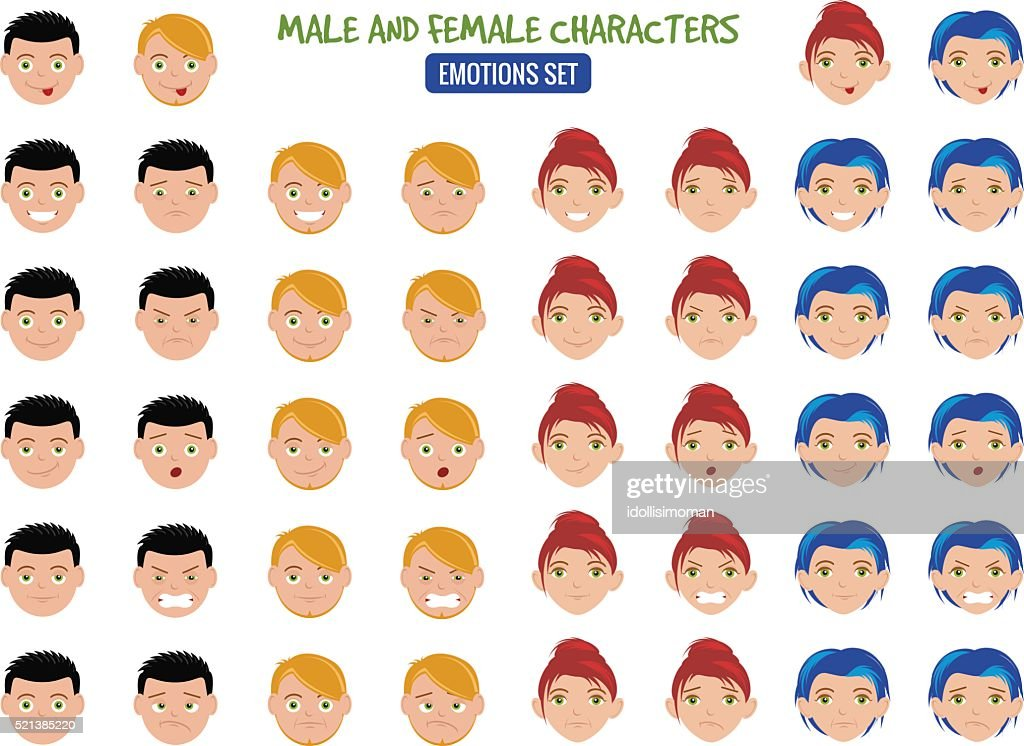 Cartoon People Emotions