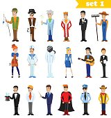 Cartoon people professions