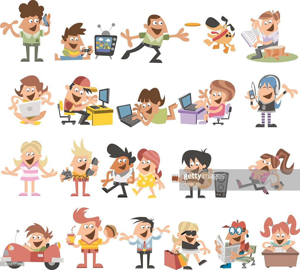 cartoon people