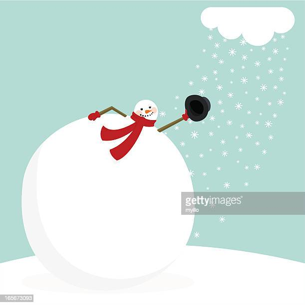 A cartoon picture of a snowman removing his hat