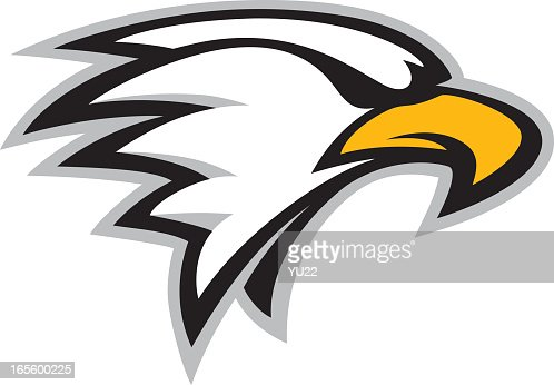 cartoon picture of an eagle head mascot vector art | getty images