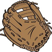 Cartoon picture of brown baseball glove