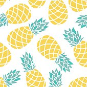 Cartoon pineapple on a white background.