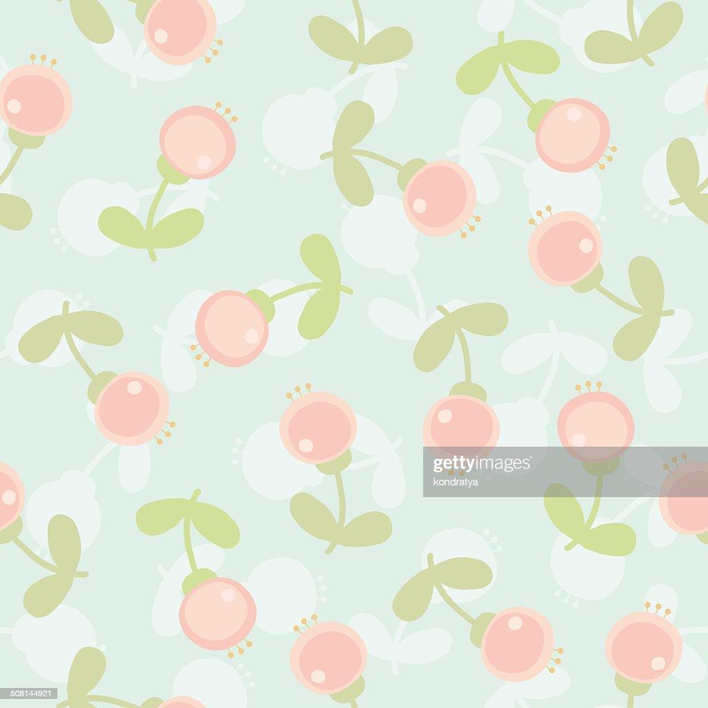 Cartoon pink flowers pattern vector art getty images cartoon pink flowers pattern vector art mightylinksfo
