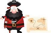 Cartoon Pirate Treasure Map