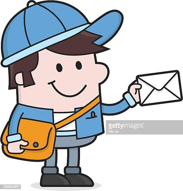 illustrations, cliparts, dessins animés et icônes de dessin animé les lettres facteur qui - facteur
