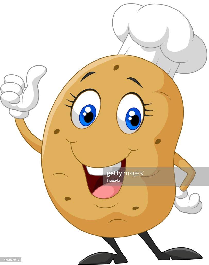 Cartoon potato giving thumb up