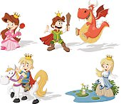 Cartoon princesses and princes