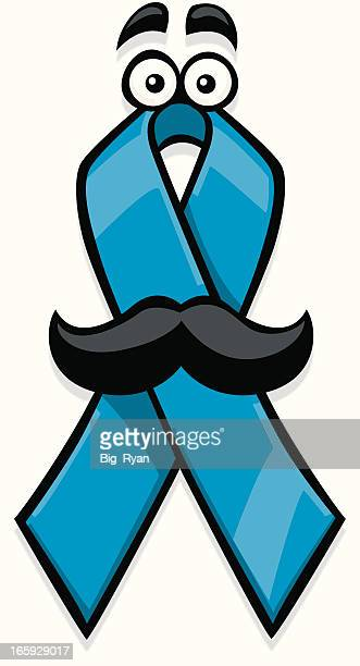 cartoon prostate cancer ribbon