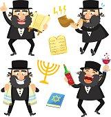 cartoon rabbis