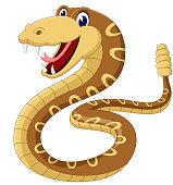 Cartoon rattlesnake