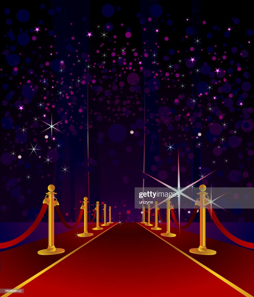 Cartoon Red Carpet With Stars In Night Sky Background High Res Vector Graphic Getty Images