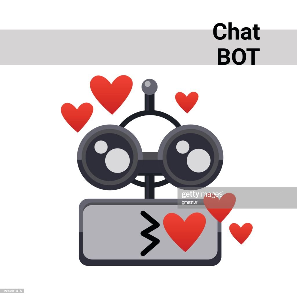 Cartoon Robot Face Smiling Cute Emotion Blow Kiss Chat Bot Icon