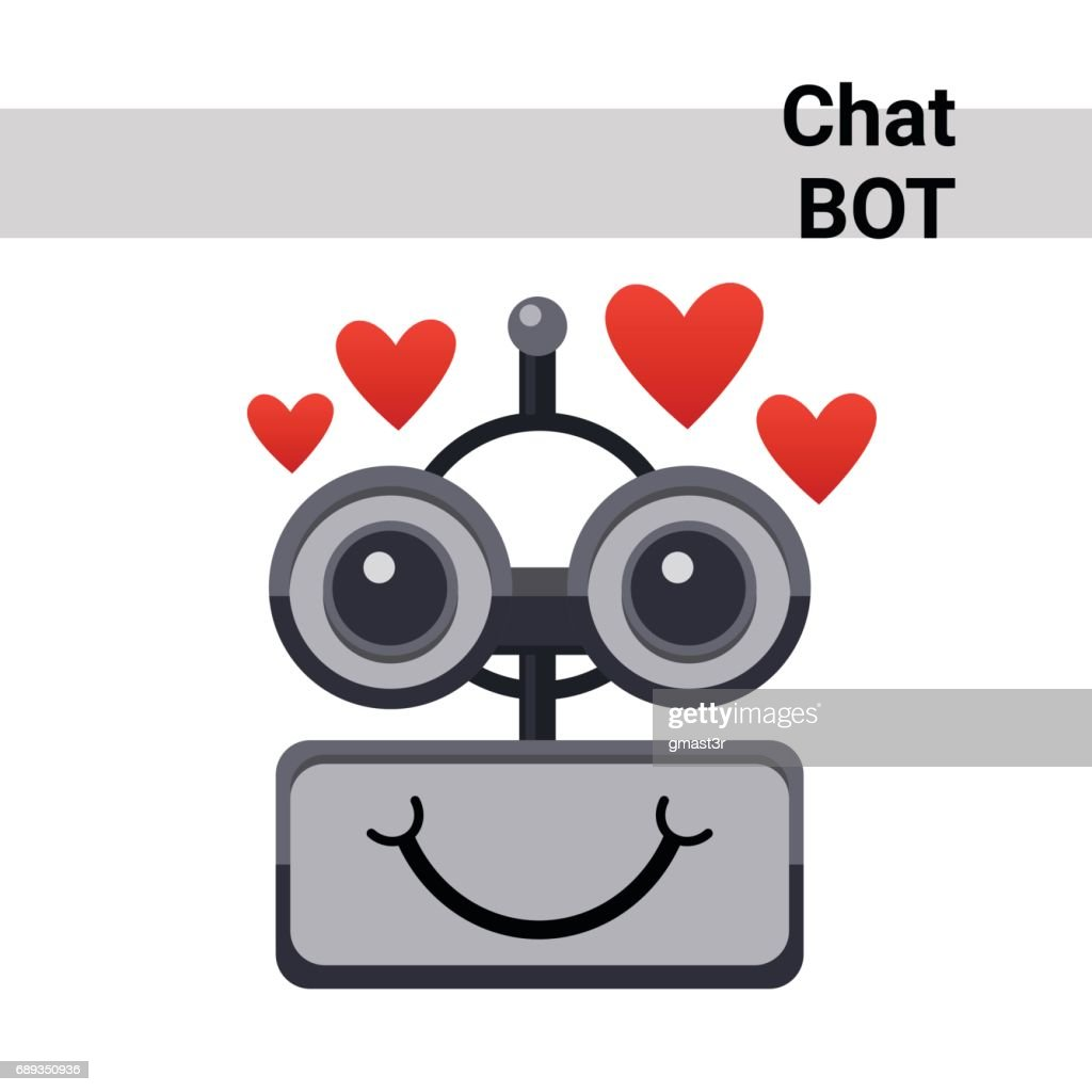 Cartoon Robot Face Smiling Cute Emotion Lovely Chat Bot Icon