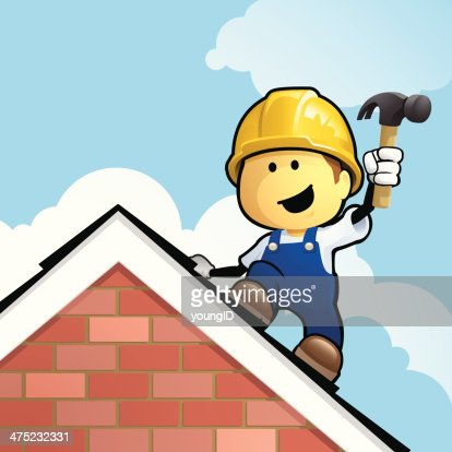 Cartoon Roofer High Res Vector Graphic Getty Images