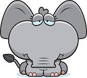 Cartoon Sad Elephant