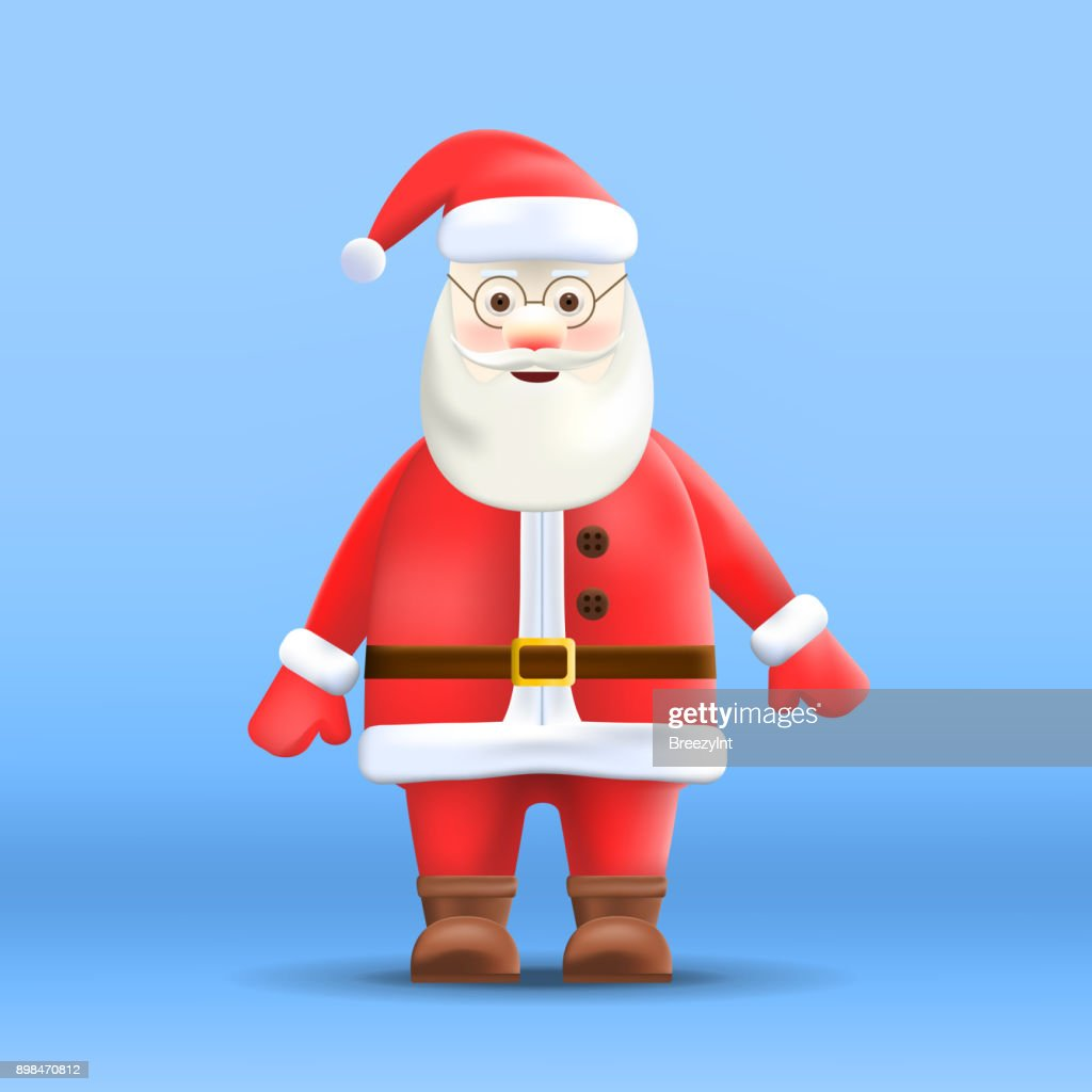 Cartoon Santa Claus Isolated on Background
