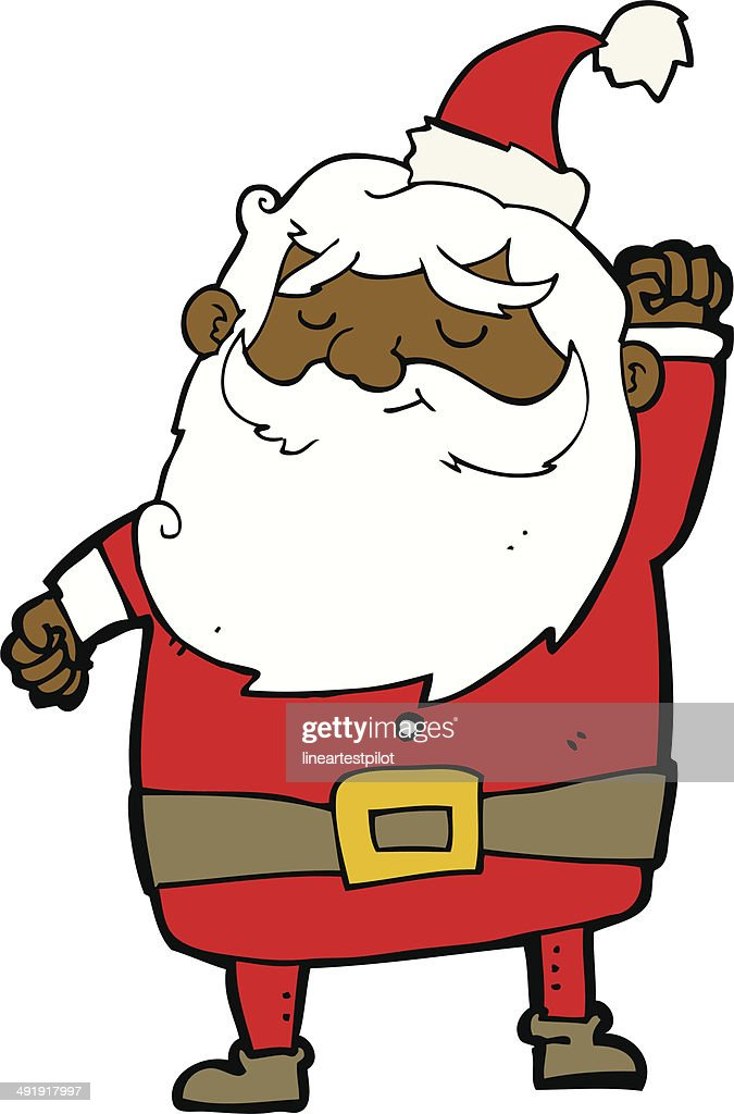 Comic Weihnachtsmann Faust In Der Luft Vektorgrafik Getty