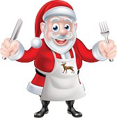 Cartoon Santa Cook