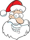 Cartoon Santa head.
