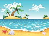 Cartoon seascape.