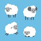 Cartoon sheep set