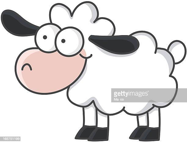 cartoon sheep - sheep stock illustrations, clip art, cartoons, & icons
