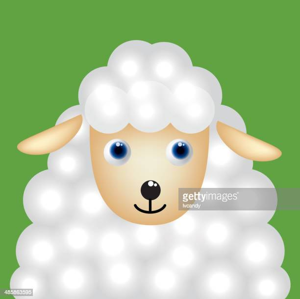 cartoon sheep - year of the sheep stock illustrations