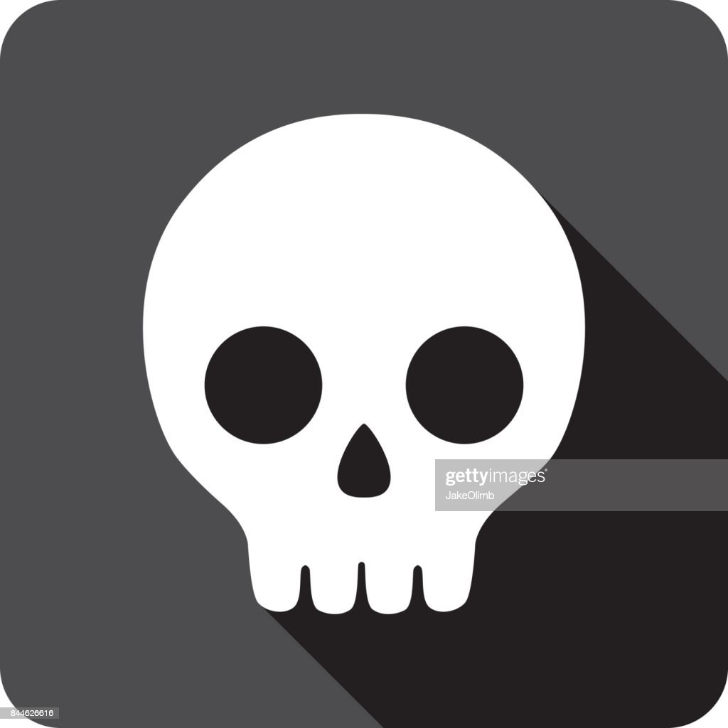 Cartoon Skull Icon Silhouette