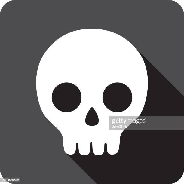 cartoon skull icon silhouette - terminal illness stock illustrations, clip art, cartoons, & icons