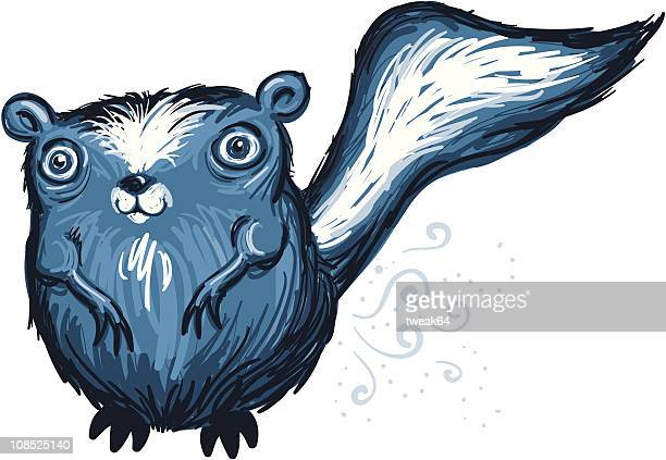 cartoon skunk - skunk stock illustrations