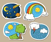 Cartoon sky stickers