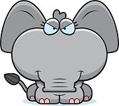 Cartoon Sly Elephant