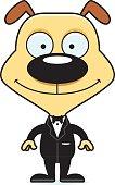 Cartoon Smiling Groom Puppy