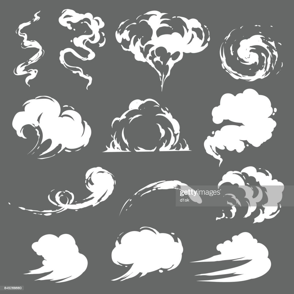 Cartoon smoke set