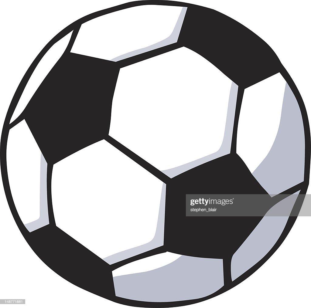 cartoon soccer ball vector art getty images rh gettyimages com soccer ball vector free soccer ball vector free