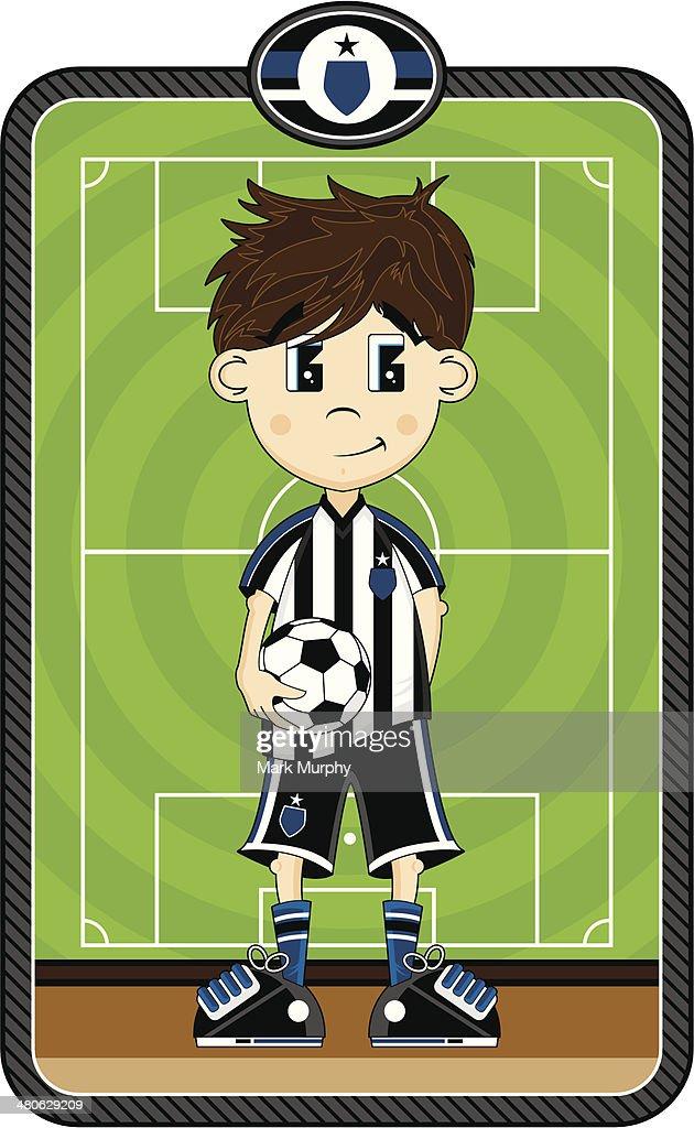 Cartoon Soccer Boy Character