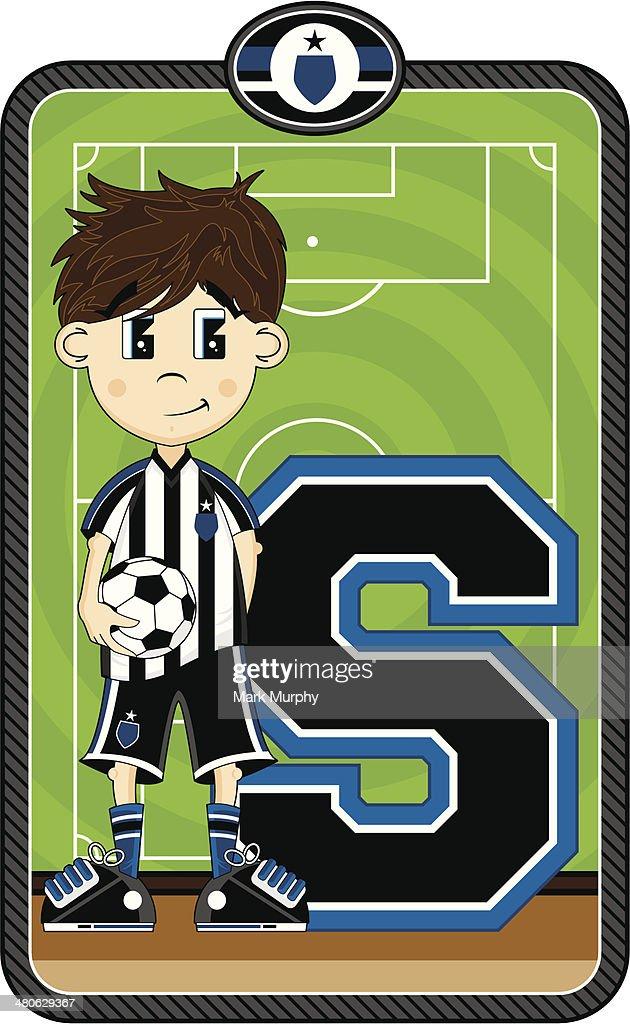 Cartoon Soccer Boy Learning Illustration