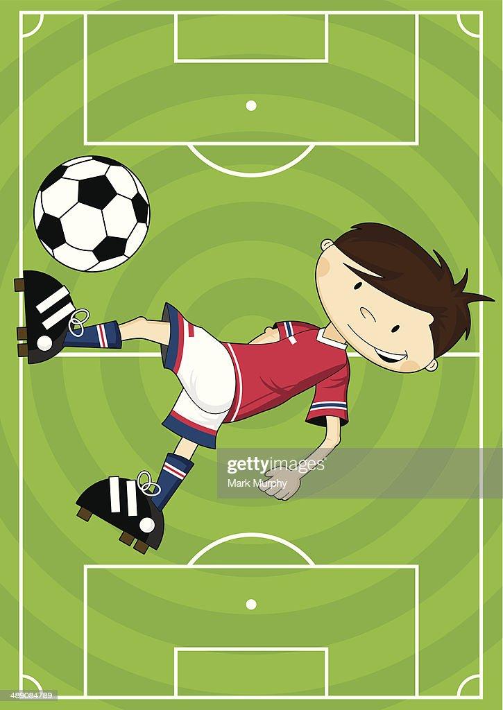 Comic Fussball Fussball Junge Zeichen Vektorgrafik Getty Images