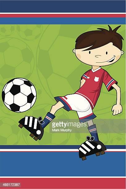 Cartoon Soccer Football Boy Character