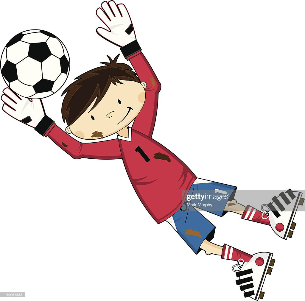 Comic Fussball Fussballtorwart Stock Illustration Getty Images
