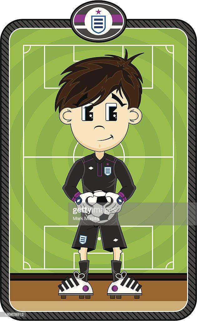 Cartoon Soccer Goalkeeper Character