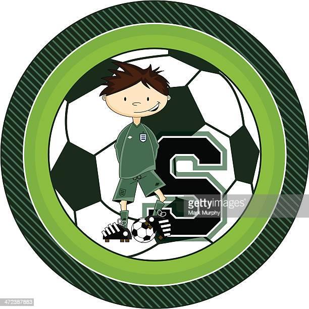 Cartoon Soccer Goalkeeper Learning Illustration
