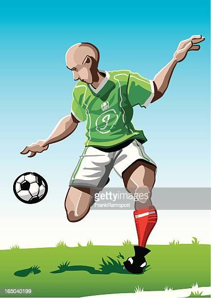 Cartoon Soccer Player Green