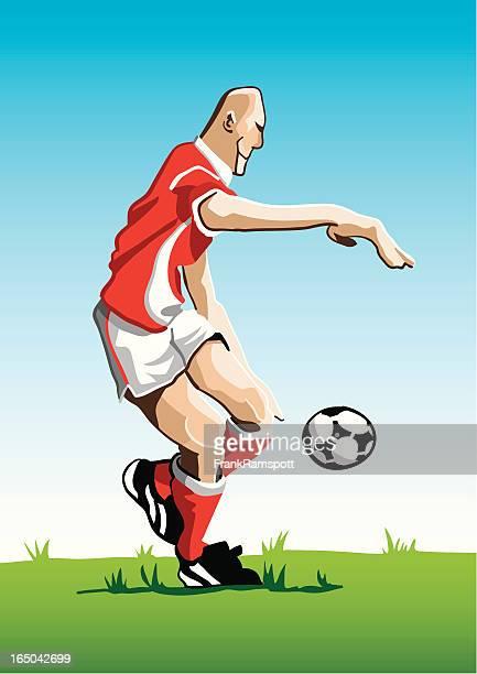 Cartoon Soccer Player Red