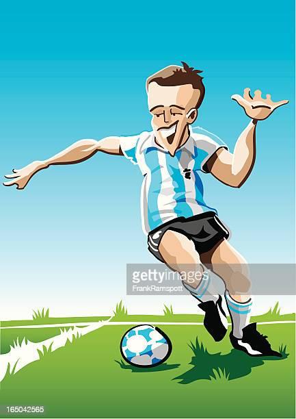 Cartoon Soccer Player Stripes