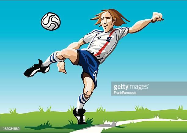 Cartoon Soccer Player White