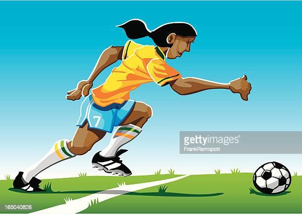 Cartoon Soccer Player Yellow