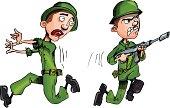 Cartoon soldiers